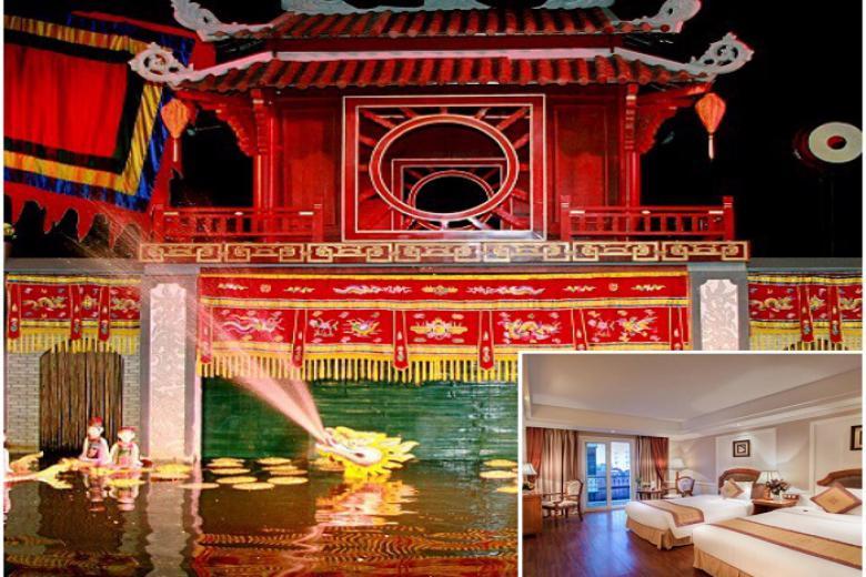 Combo Hà Nội 3N2Đ, Khách Sạn Gondola 3* + VMB + Tặng Vé Xem Múa Rối Nước.