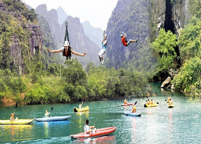 bơi thuyền kayak trên sông Chày