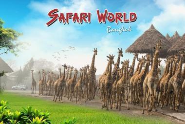 Vé Vào Cổng Vườn Thú Safari World ở Bangkok