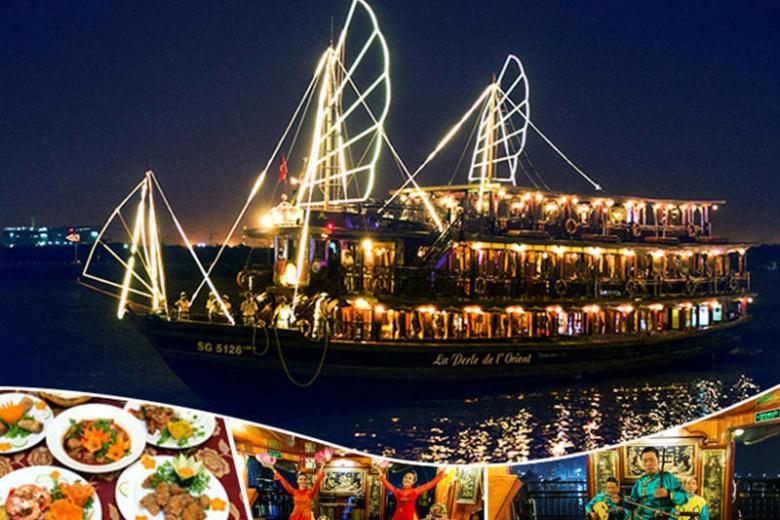 Voucher Ăn Tối Tại  Du Thuyền Indochina Junk Trên Sông Sài Gòn