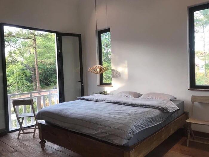 Biệt thự rừng thông Kon Tum - phòng ngủ
