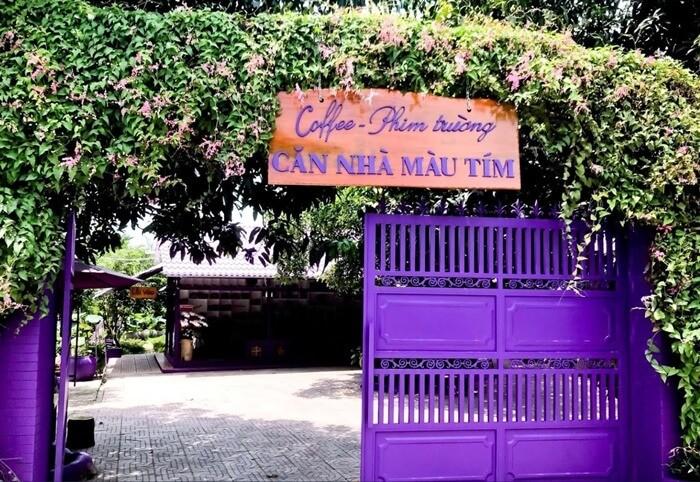Căn nhà màu tím Cần Thơ - coffee phim trường