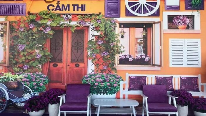 Căn nhà màu tím Cần Thơ - thưởng thức cafe thơm ngon