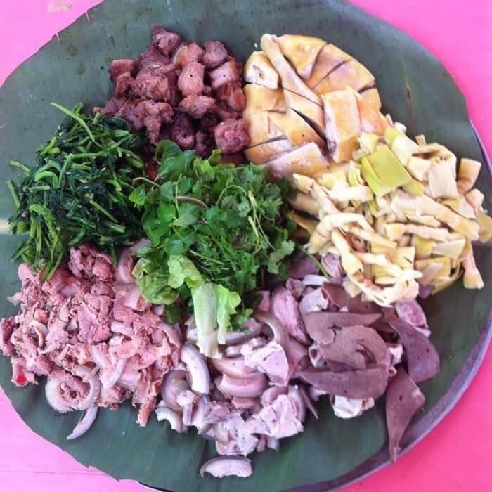 Đặc sản Thanh Sơn - thịt nộm nâu