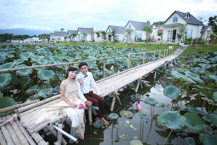Bach Thuy lotus lagoon - Asian European architectural garden