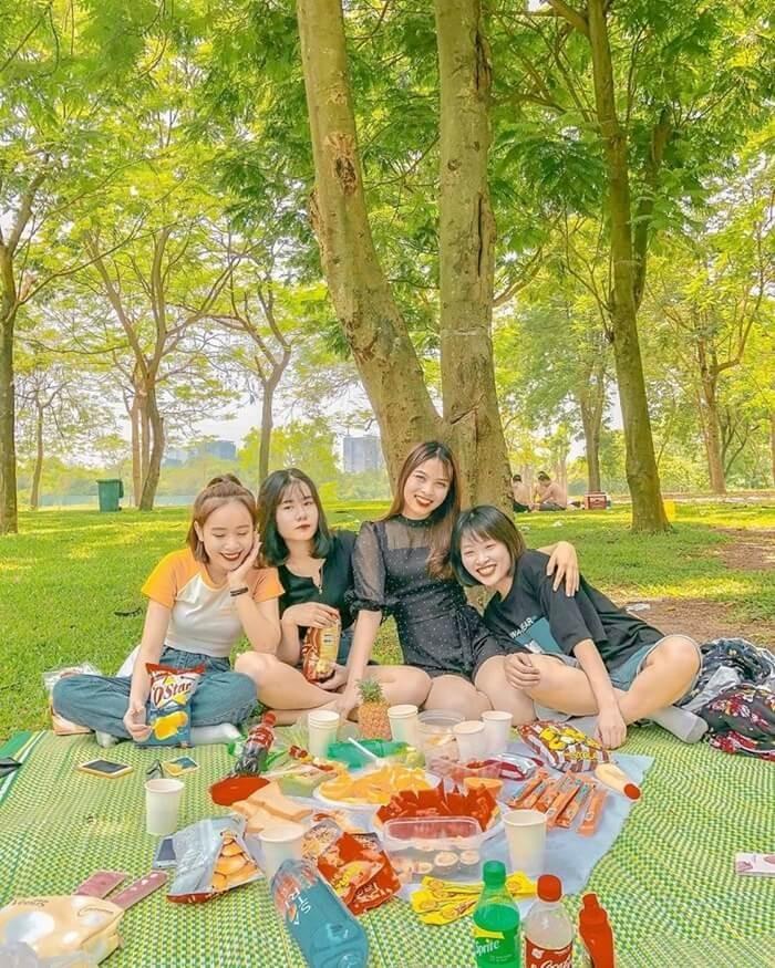 Điểm cắm trại gần Hà Nội - công viên Yên Sở