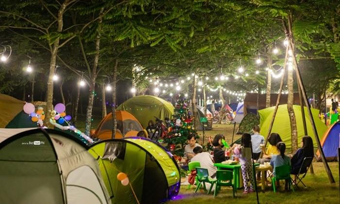 Điểm cắm trại gần Hà Nội - Ecopark