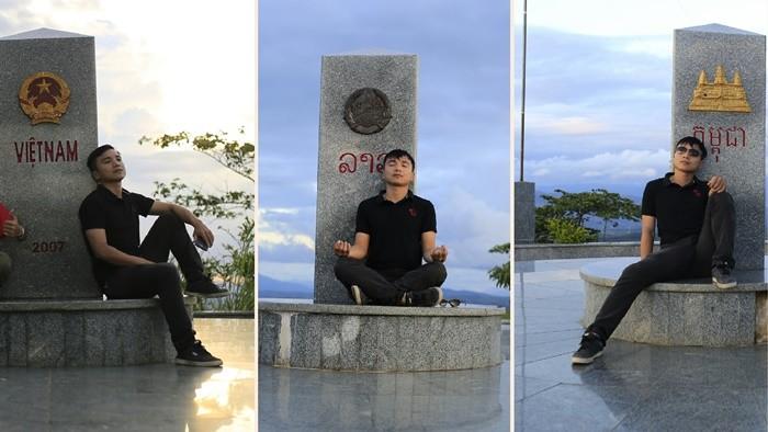 Du lịch Ngọc Hồi Kon Tum - cột mốc ngã ba biên giới