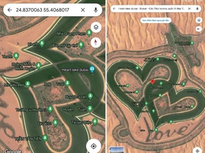 Làm thế nào để đến được hồ trái tim ở Dubai