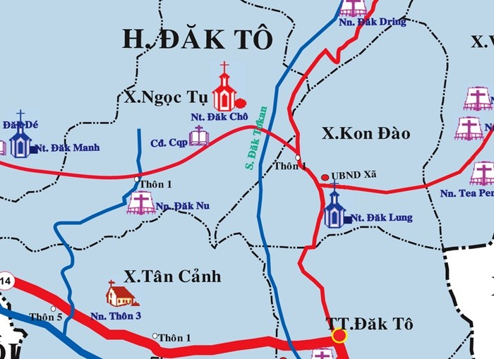 About the victory relic of Dak To - Tan Canh