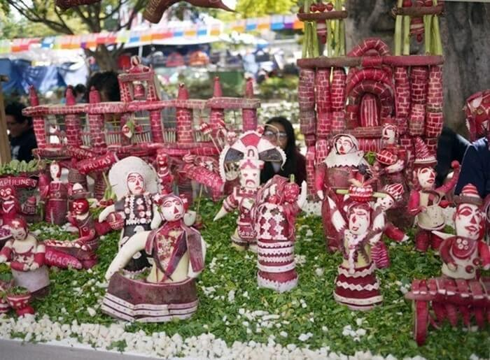 Have fun with Mexican Oaxaca Radish Festival at Christmas
