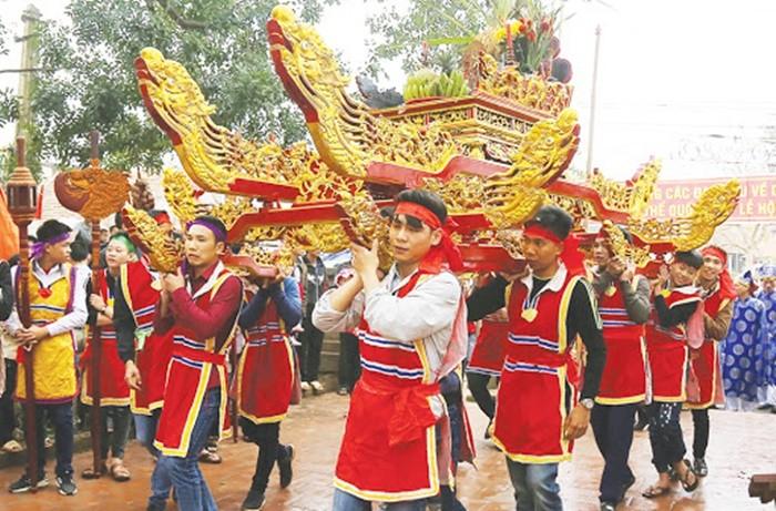 Lễ hội đền Du Yến - rước kiệu