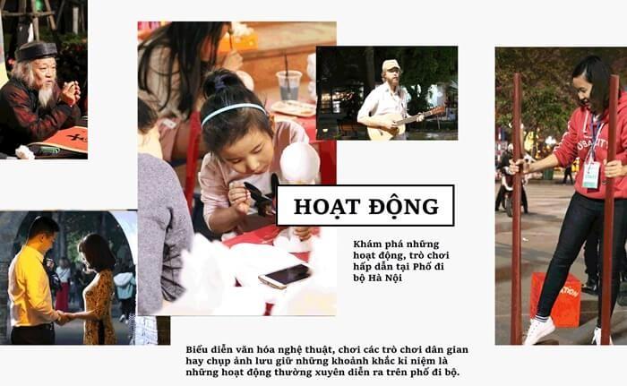 Phố đi bộ Hà Nội với nhiều hoạt động đặc sắc
