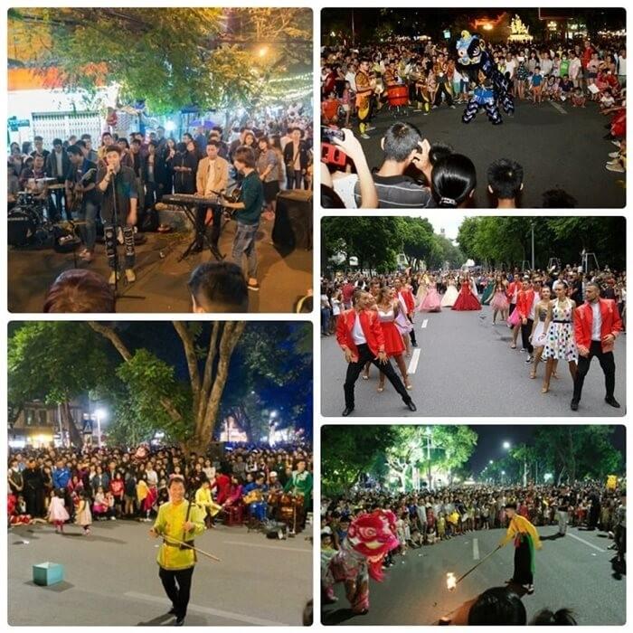 Phố đi bộ Hà Nội - điểm biểu diễn văn hóa nghệ thuật đặc sắc