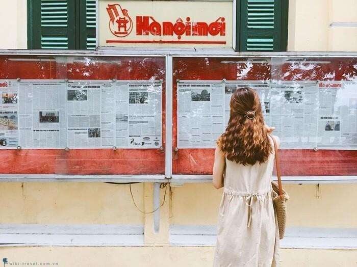 Phố đi bộ Hà Nội - tòa soạn báo mới Hà Nội