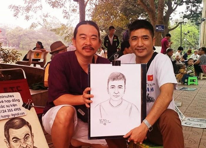 Phố đi bộ Hà Nội - vẽ chân dung