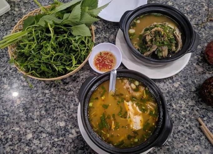 Delicious restaurant in Mang Den - A Kay snakehead fish soup cake shop 7