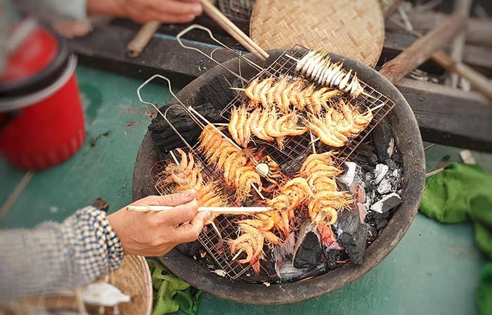 Một món hải sản hấp dẫn ở phá Tam Giang.