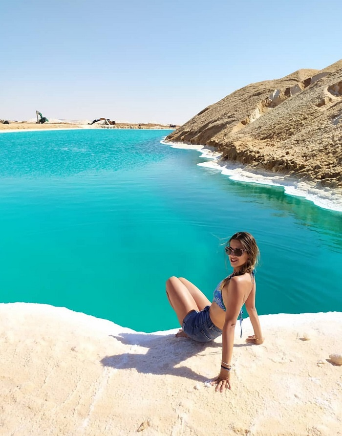 Unique salt lake in Siwa Egypt for those who cannot swim