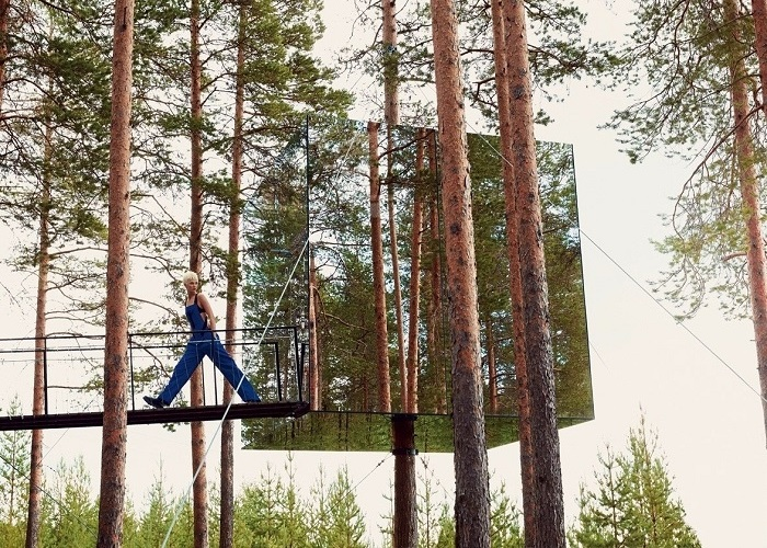 Không thể 'đụng hàng' khách sạn trên cây Treehotel tại Thụy Điển