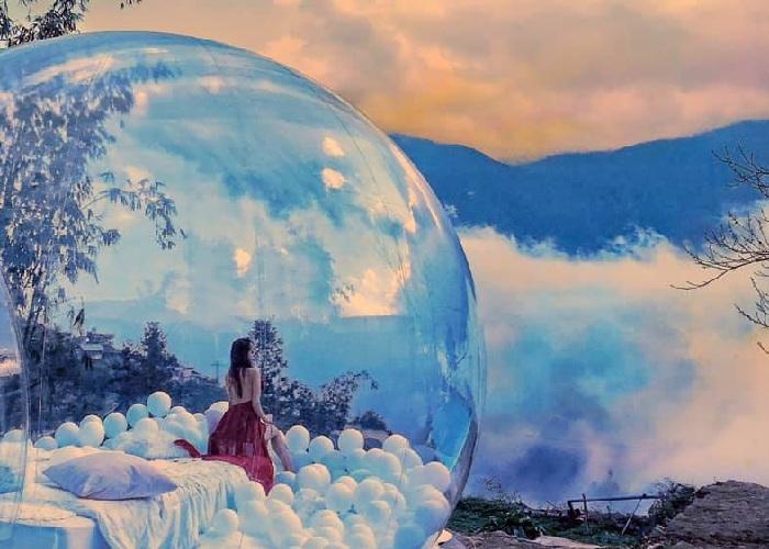 Khu vườn bí mật Secret Garden Homestay Sapa ẩn hiện trong mù sương