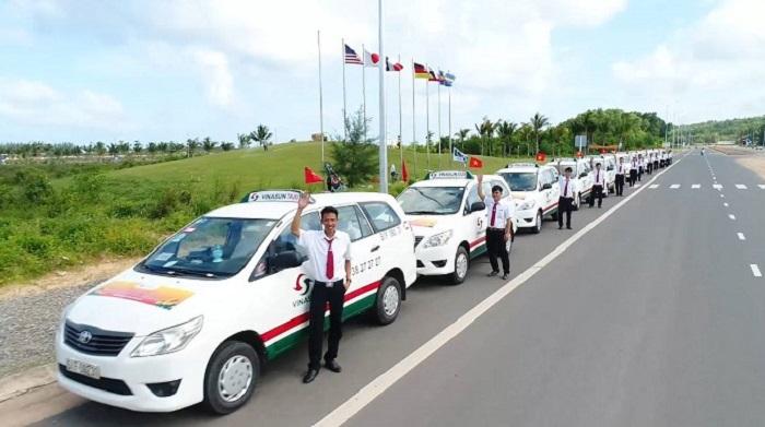 Taxi companies in Phu Quoc - taxi Vinasun Phu Quoc