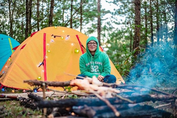 camping in Da Lat - renting a tent