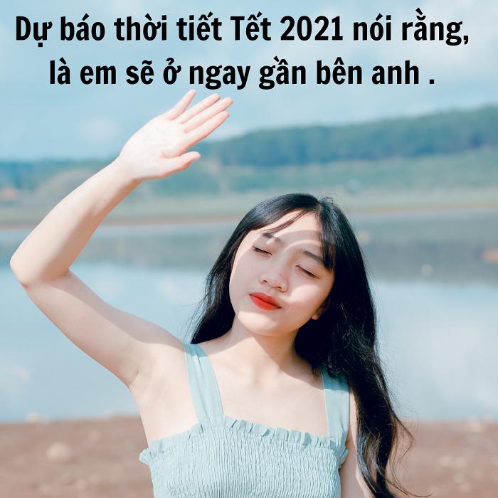 caption thả thính ngày Tết 2021 độc đáo