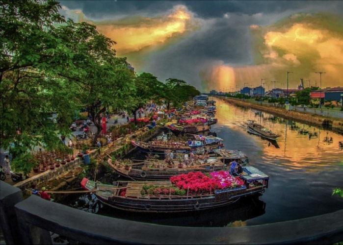 Chợ hoa Tết ở Sài Gòn - chợ hoa bến Bình Đông