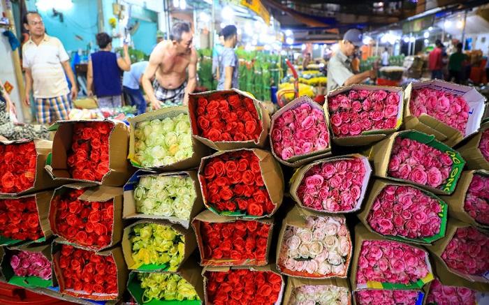 Chợ hoa Tết ở Sài Gòn - chợ hoa Đầm Sen
