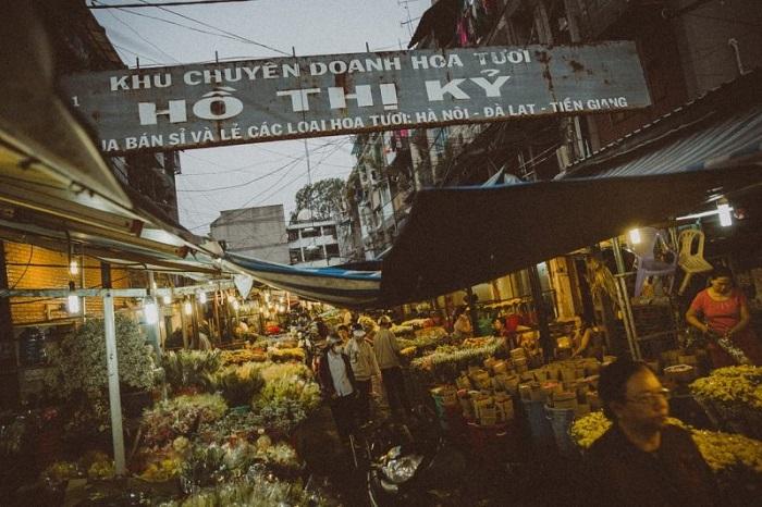 Chợ hoa Tết ở Sài Gòn - chợ hoa Hồ Thị Kỷ