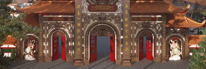 Cổng chùa Phật Quốc Vạn Thành