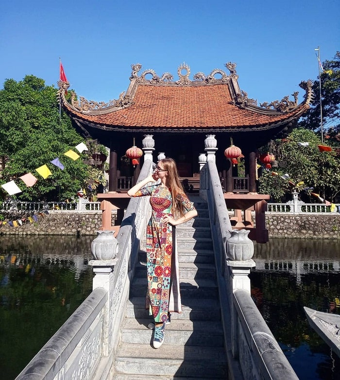 Pagoda on the water - the most impressive work at Pho Chieu Pagoda