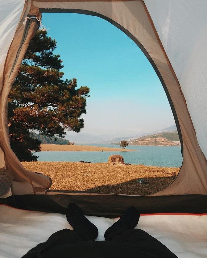 địa điểm du lịch Đà Lạt cho gia đình - cắm trại thung lũng Vàng