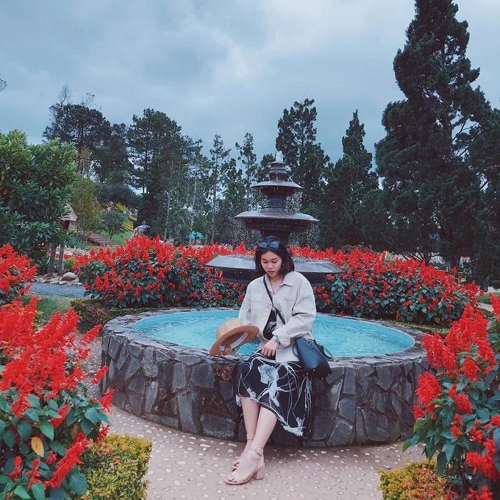 địa điểm du lịch Đà Lạt cho gia đình - check in vườn hoa thành phố
