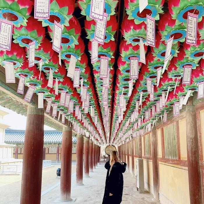 đường mòn đi bộ Hàn Quốc - đường đến đền Bulguksa