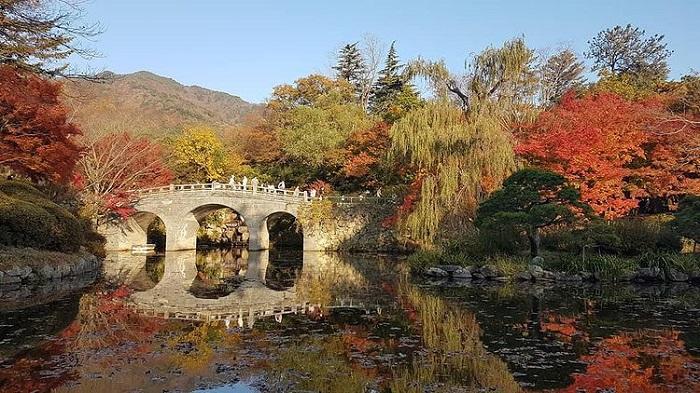 đường mòn đi bộ Hàn Quốc - đường đi đến đền Bulguksa