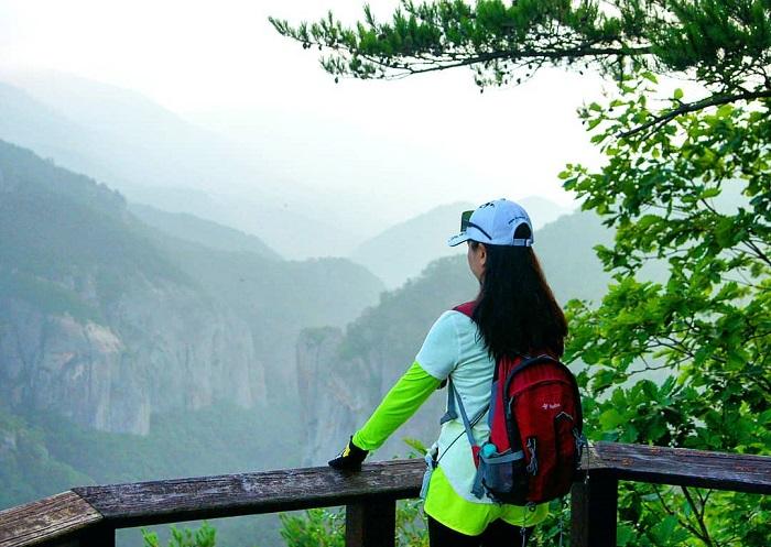 đường mòn đi bộ Hàn Quốc - công viên quốc gia Juwangsan