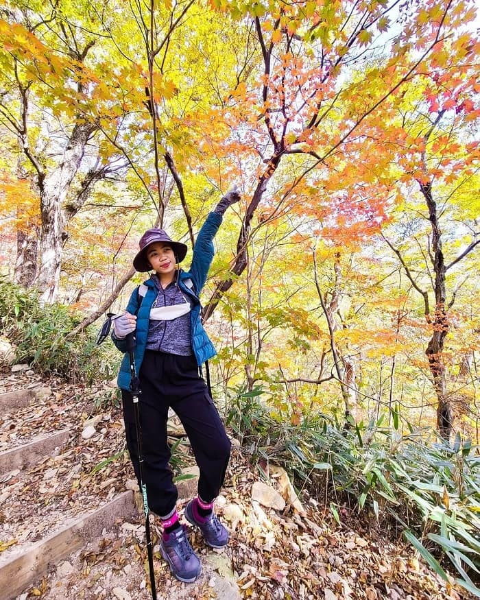 đường mòn đi bộ Hàn Quốc - leo núi Naejangsan