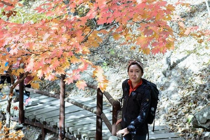 đường mòn đi bộ Hàn Quốc - chọn trang phục