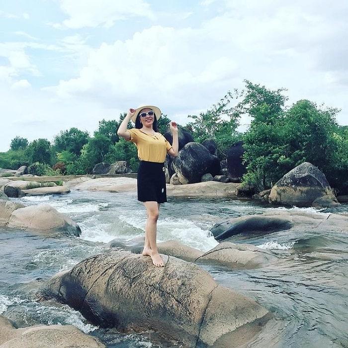 Big rock - the highlight of Krong Kmar waterfall in Dak Lak