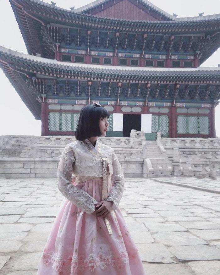 kinh nghiệm du lịch Hàn Quốc tháng 2 - tham quan cung điện Gyeongbokgung