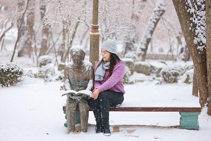 kinh nghiệm du lịch Hàn Quốc tháng 2 - chuẩn bị trang phục ấm