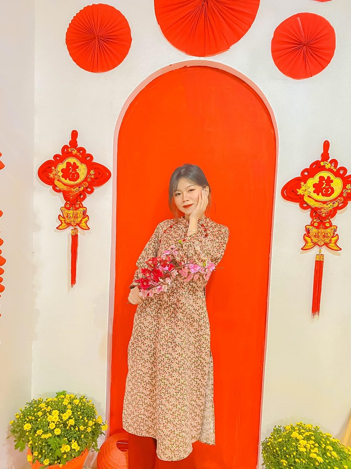 What to wear to take photos of Tet?  - Little flower