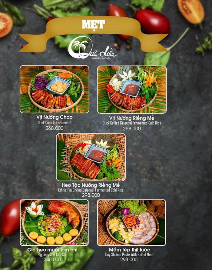 Làng sinh thái ẩm thực Quê Dừa - Mẹt Quê Dừa