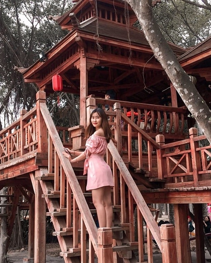 bungalows by trees - attractive whore of Truong Thanh Farm in Hai Phong