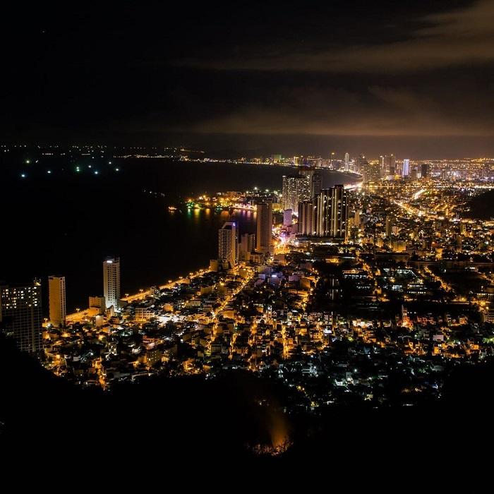 Co Tien mountain Nha Trang at night