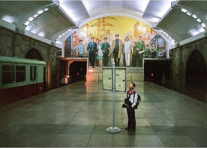 space Pyongyang subway station