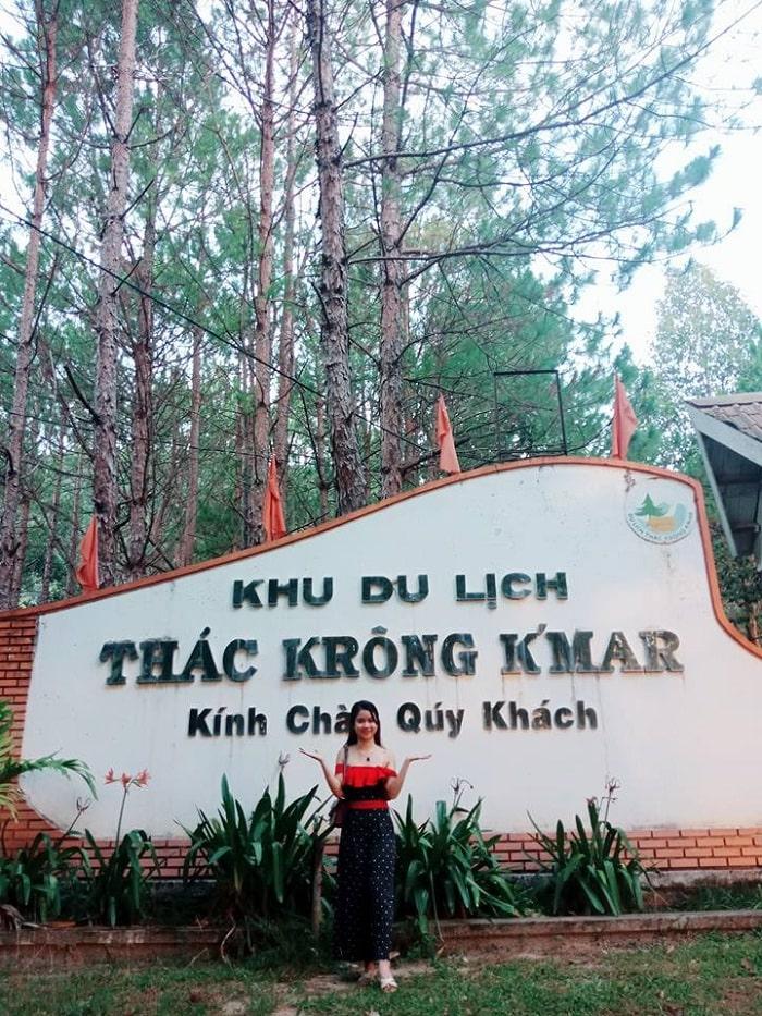 Krong Kmar waterfall in Dak Lak