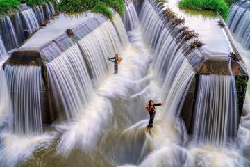 Check-in đập W Đăk Nông đẹp siêu thực mùa nước lên